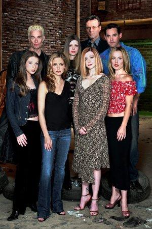 Buffy, a Caça-Vampiros : Foto Alyson Hannigan, Amber Benson, Anthony Head, Emma Caulfield, James Marsters