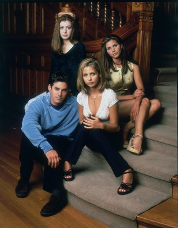Buffy, a Caça-Vampiros : Foto Alyson Hannigan, Charisma Carpenter, Nicholas Brendon, Sarah Michelle Gellar