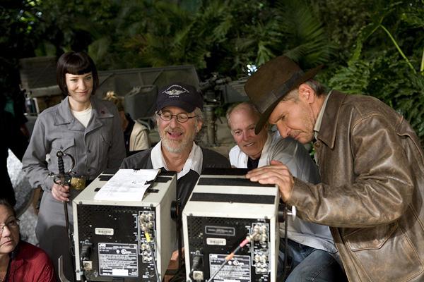 Indiana Jones e o Reino da Caveira de Cristal : Foto Cate Blanchett, Frank Marshall, Harrison Ford, Steven Spielberg