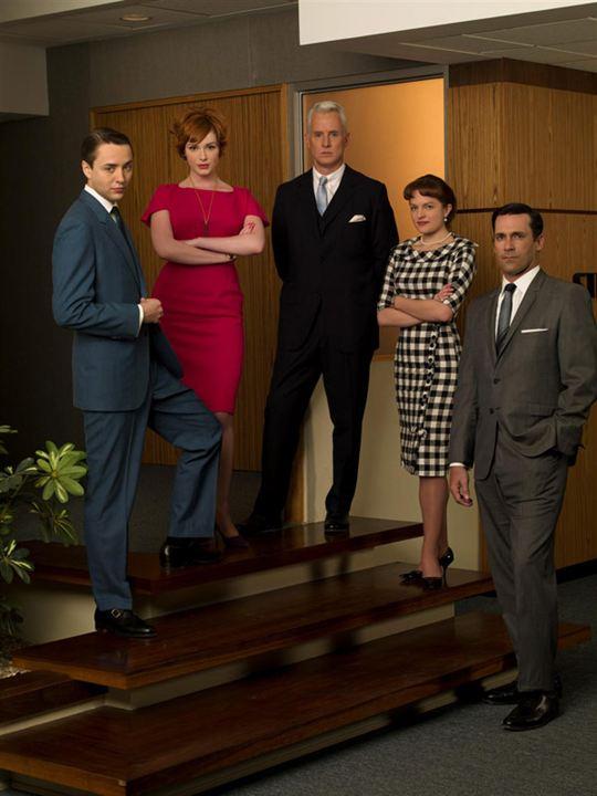 Mad Men : Foto Christina Hendricks, Elisabeth Moss, John Slattery, Jon Hamm, Vincent Kartheiser