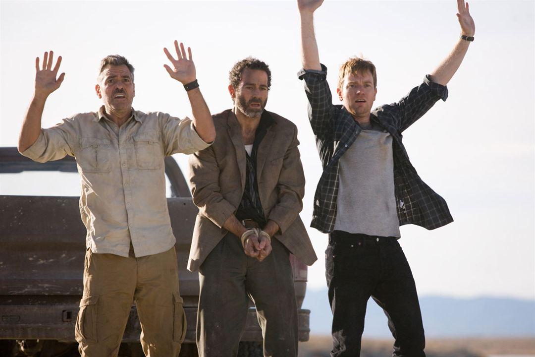 Os Homens que Encaravam Cabras : Foto Ewan McGregor, George Clooney, Grant Heslov, Waleed Zuaiter