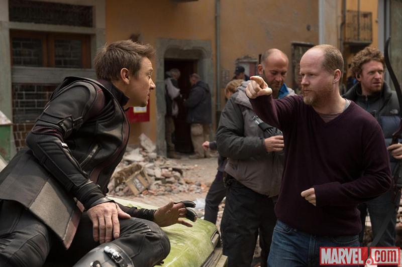 Vingadores: Era de Ultron : Foto Jeremy Renner, Joss Whedon