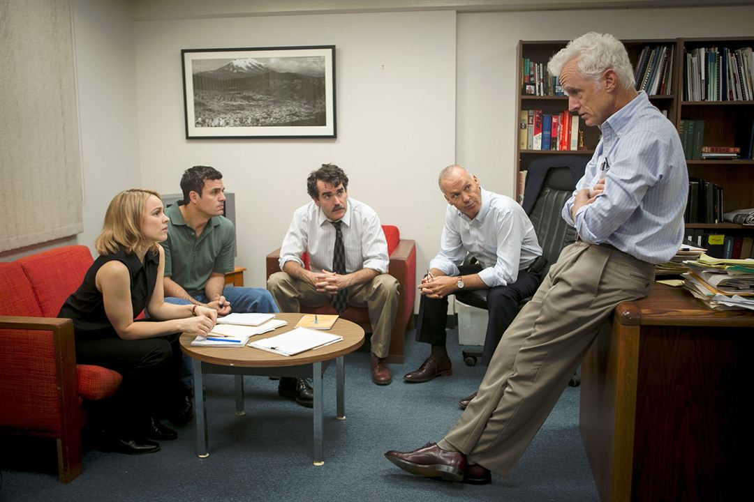 Spotlight - Segredos Revelados : Foto Brian d'Arcy James, John Slattery, Mark Ruffalo, Michael Keaton, Rachel McAdams