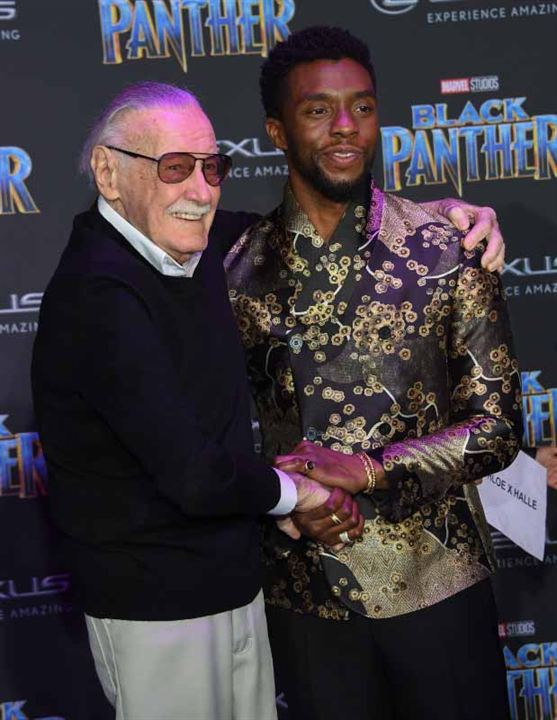 Pantera Negra : Vignette (magazine) Chadwick Boseman, Stan Lee