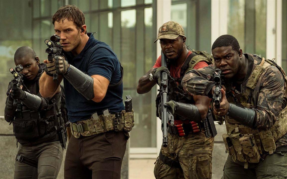 A Guerra do Amanhã: Edwin Hodge, Sam Richardson, Chris Pratt