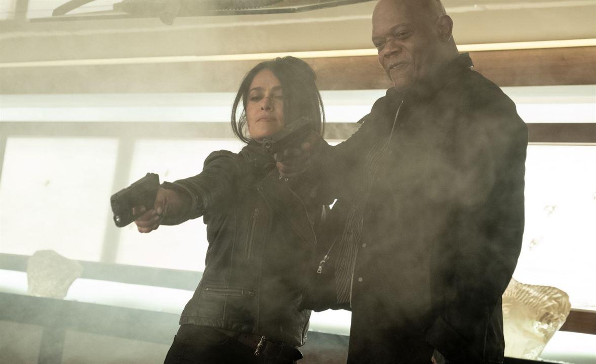 Dupla Explosiva 2 - E a Primeira Dama do Crime: Samuel L. Jackson, Salma Hayek