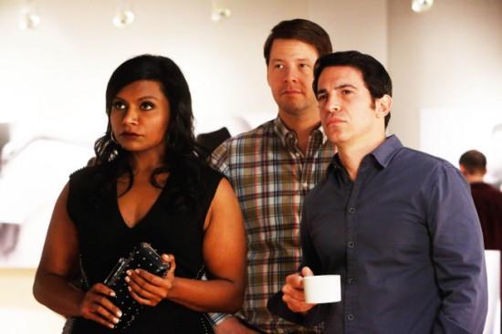 Foto Chris Messina, Ike Barinholtz, Mindy Kaling